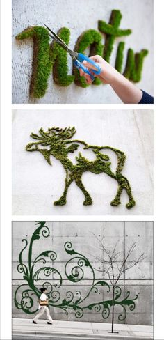 Moss Graffiti http://wonderfulengineering.com/using-a-blender-this-guy-executes-the-coolest-but-most-illegal-diy-project-ever-brilliant/