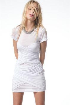 T-Shirt dress...hmmm, longer and not white!