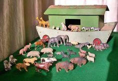 Vintage Wooden Noahs Ark 40 Lead Animals Britains Timpo Taylor Barrett Hill   eBay