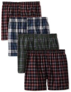 Fruit of the Loom Men`s 4 Pack Tartan Woven Boxer $11.28 (save $3.72) + Free Shipping