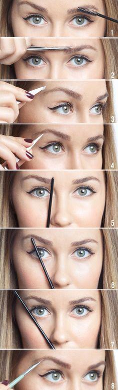 Lauren Conrad DIY eyebrow tutorial