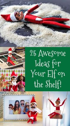 Elf on the Shelf is a fun Christmas tradition! If you are short on inspiration, check out these 25 funny Elf on the Shelf ideas. Fun for toddlers and for kids! Easy mischief ideas too.