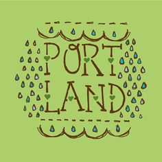 Portland illustration art print typography by AlissaThiele on Etsy