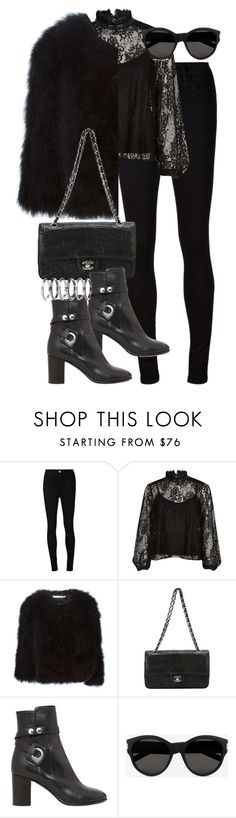 """Untitled #2820"" by angieswardrobe ❤ liked on Polyvore featuring AG Adriano Goldschmied, River Island, Givenchy, Chanel, Isabel Marant, Yves Saint Laurent and M.N.G"