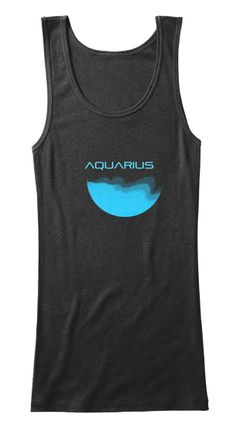 Aquarius Black T-Shirt Front