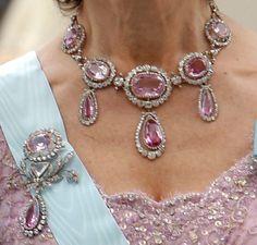 Queen Silvia's pink topazes.