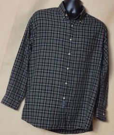 Enro Plaid Multi color Front Button Oxford Collar Shirt Size L #Enro #ButtonFront