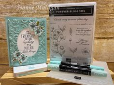 Card showcasing the new Parisian Flourishes Embossing Folder and Forever Blossoms stamp set from my presentation at OnStage 2019 in Hartford, CT. Created by Joanne Mulligan, Independent Stampin' Up! Paris Cards, Cherish Every Moment, Wink Of Stella, Stamping Up Cards, Embossing Folder, Flower Cards, Homemade Cards, Parisian, Making Ideas