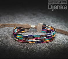 Ethnic bracelet - beading - Wisla