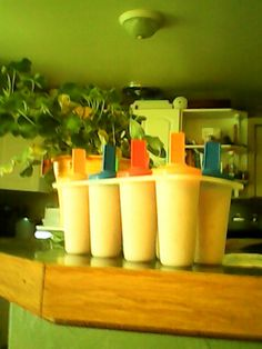 Apple cherry smoothie popcicles 1 apple chopped,cherry yogurt,half tbsp honey,1 tsp cinnimon ,and half cup milk // blend and freeze!!!!!!!!