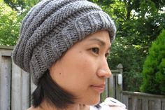 Handknit Slouchy Beehive Hat - This might be the perfect project to get my knitting mojo back.