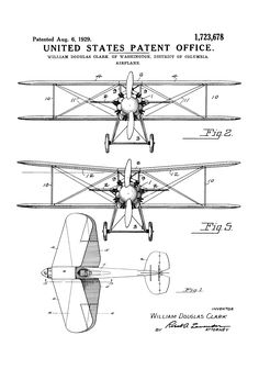 Airbus a320 200 aircraft drawings pinterest aircraft patent print poster of a biplane invented by william douglas clark the patent was issued fandeluxe Image collections
