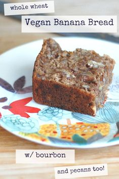 A whole wheat vegan recipe chock full of pecans and flavored with bourbon! #fallrecipes