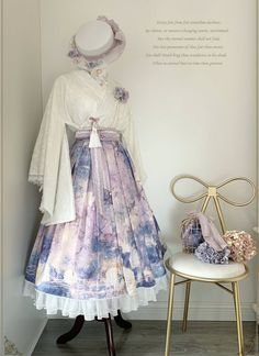 LolitaWardtobe - Bring You the latest Lolita dresses, coats, shoes, bags etc from Trustworthy Taobao indie Brands. We never resell Lolita items from untrustworthy Taobao stores. Style Lolita, Mode Lolita, Gothic Lolita, Kimono Fashion, Lolita Fashion, Cute Fashion, Fashion Models, Fashion Women, Pretty Outfits