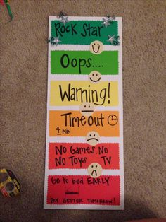 Behavior chart! Worked so well at school, how about home?!?