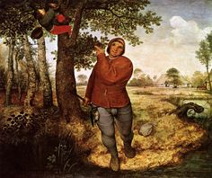 The Peasant and the Nest Robber is an oil-on-panel by Flemish renaissance artist Pieter Bruegel the Elder, painted in 1568. It is currently held and exhibited at the Kunsthistorisches Museum in Vienna.