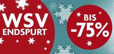 #Winterschlussverkauf Endspurt: Bis zu 75% günstiger! #WSV