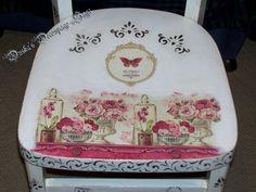 Duska's Decoupage Saga Vintage Chair