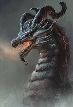Dragon by Callergi Dragon Face, New Dragon, Dragon Head, Fire Dragon, Dragon Blood, Fantasy Dragon, Fantasy Art, Fantasy Creatures, Mythical Creatures