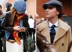Street chic newsboy and ivy caps! Flat Cap, Just For Fun, Street Chic, Daily Fashion, Work Wear, Autumn Fashion, Feminine, Fall Fashions, Flats