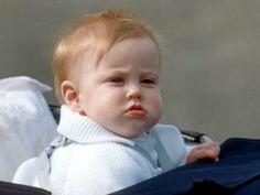 An infant Princess Beatrice Daughter of Prince Andrew & Sarah, Duchess of York.  Circa 1989 https://www.facebook.com/groups/260713314096465/