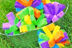 Sponge Balls: Video - http://www.pbs.org/parents/crafts-for-kids/sponge-balls-video/