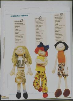 Nini Artes: Moldes - Bonecas Magrelas