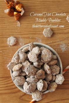 Caramel Hot Chocolate Muddy Buddies Recipe - theBitterSideofSweet