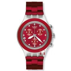 Red Swatch watch=WANT
