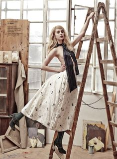 """Dreaming of Dior: """"Art Attack"""" Niki Hadju for Marie Claire Czech May 2015"""