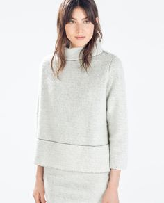 love this sweater // ZARA - WOMAN - HIGH NECK SWEATER