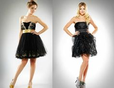 Vestidos de quince en negro y oro - Fifteen dresses in black and gold