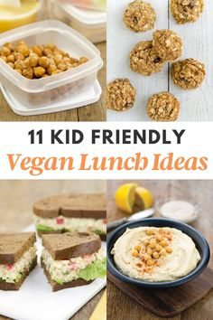 Looking for vegan school lunch ideas that are kid-friendly and easy to make? You're in luck because we have the best vegan lunch recipes here! Vegan School Lunch Ideas For Kids, School Lunch Recipes, Vegan Lunch Recipes, Vegan Lunches, Gluten Free Recipes For Dinner, Delicious Vegan Recipes, Yummy Food, Healthy Recipes, Packing School Lunches