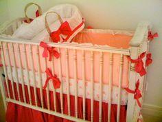 AFK Madison Crib, Lulla Smith Moses Basket & Maddie Boo Beding. Lovely