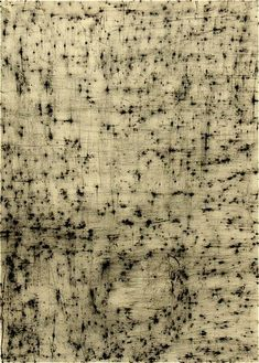 """Erik Gonzales - Wall Drawing (Spain) II (2009, charcoal, graphite and shellac on paper, 26""""x22"""")"""
