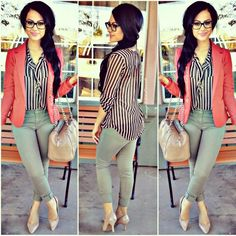 Casual & Classy ♡ #ootd Top: Styles | Blazer: Zenana Outfitters | Pants: Charlotte Russe | Heels: Payless |