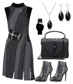 """Black & Grey"" by eda-dastan-karatas on Polyvore featuring moda, 3.1 Phillip Lim, Versace, Yves Saint Laurent ve Rado"
