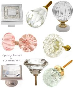 crystal knobs @ bloomize.com
