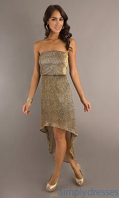 High Low Strapless Dress at SimplyDresses.com