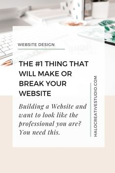 You want nothing more than to come across as the professional you are and it's important to you to have a website that reflects this professionalism. Let's talk about the one thing that will make or break your site. Professionally designed websites start here.