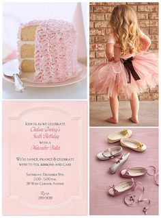 Ballerina Birthday Party for Sweet P one day. Ballerina Birthday Parties, Ballerina Party, 4th Birthday Parties, Girl Birthday, Birthday Ideas, Birthday Diy, Baby Party, Princess Party, Party Gifts