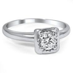 14K White Gold The Gratia Ring