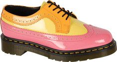 This 5-Eye 3989 Brogue shoe is deliberately over the top, but still definitely Dr. Martens.Featuring the original Dr. Martens air-cushioned sole, providing underfoot comfort and durability since 1960. It is oil- and fat-resistant, tough and offers good abrasion and slip resistance.This is a Goodyear