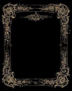 dark floral frame