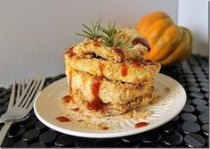 This crispy baked coconut crusted acorn squash is like a healthy version of onion rings perfect for fall.