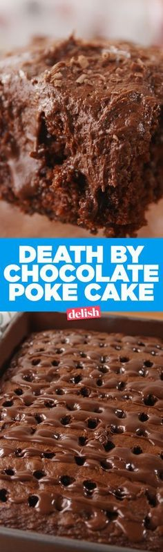 Death By Chocolate Poke Cake - Delish.com