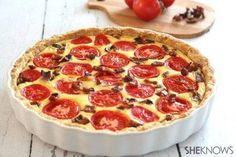Low carb goats cheese tart