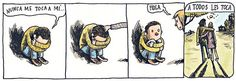 ImageFind images and videos about love and liniers on We Heart It - the app to get lost in what you love. Albus Dumbledore, Humor Grafico, Calvin And Hobbes, 3 In One, Vintage Children, Fun Games, First Love, Peanuts Comics, Words