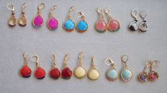 Fun colorful earrings!