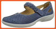 Hotter Quake - Blue River (Leather) Womens Shoes 9 US - Loafers and slip ons for women (*Amazon Partner-Link)